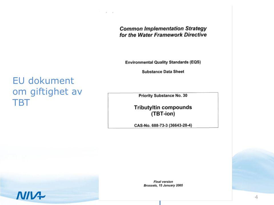 EU dokument om giftighet av TBT