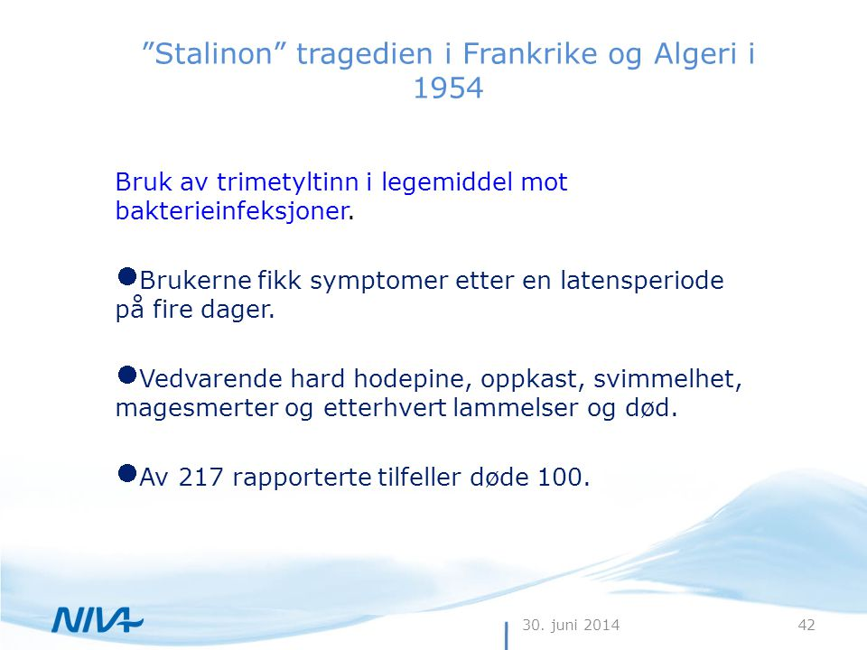 Stalinon tragedien i Frankrike og Algeri i 1954