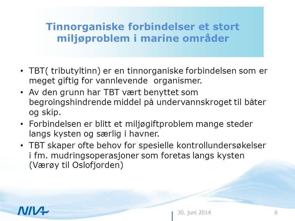Tinnorganiske forbindelser et stort miljøproblem i marine områder