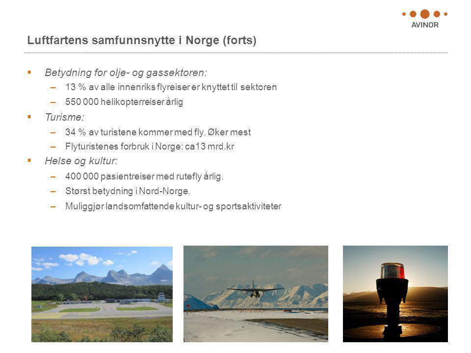 Luftfartens samfunnsnytte i Norge (forts)