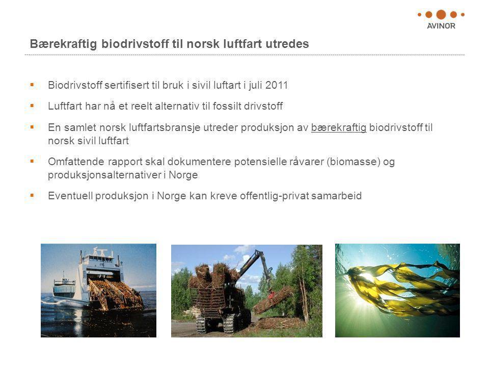 Bærekraftig biodrivstoff til norsk luftfart utredes