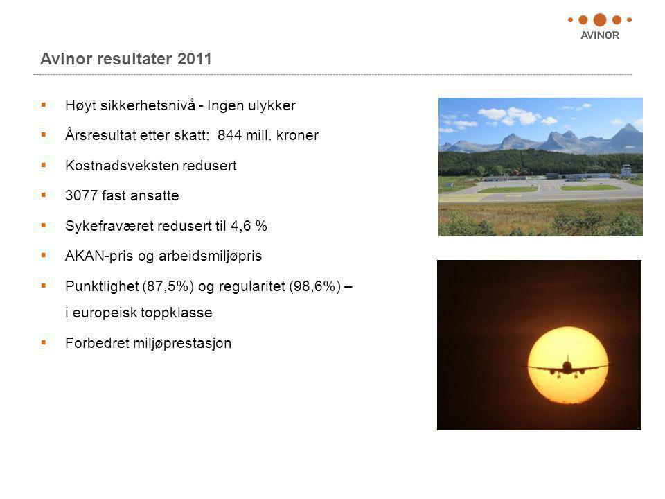 Avinor resultater 2011 Høyt sikkerhetsnivå - Ingen ulykker