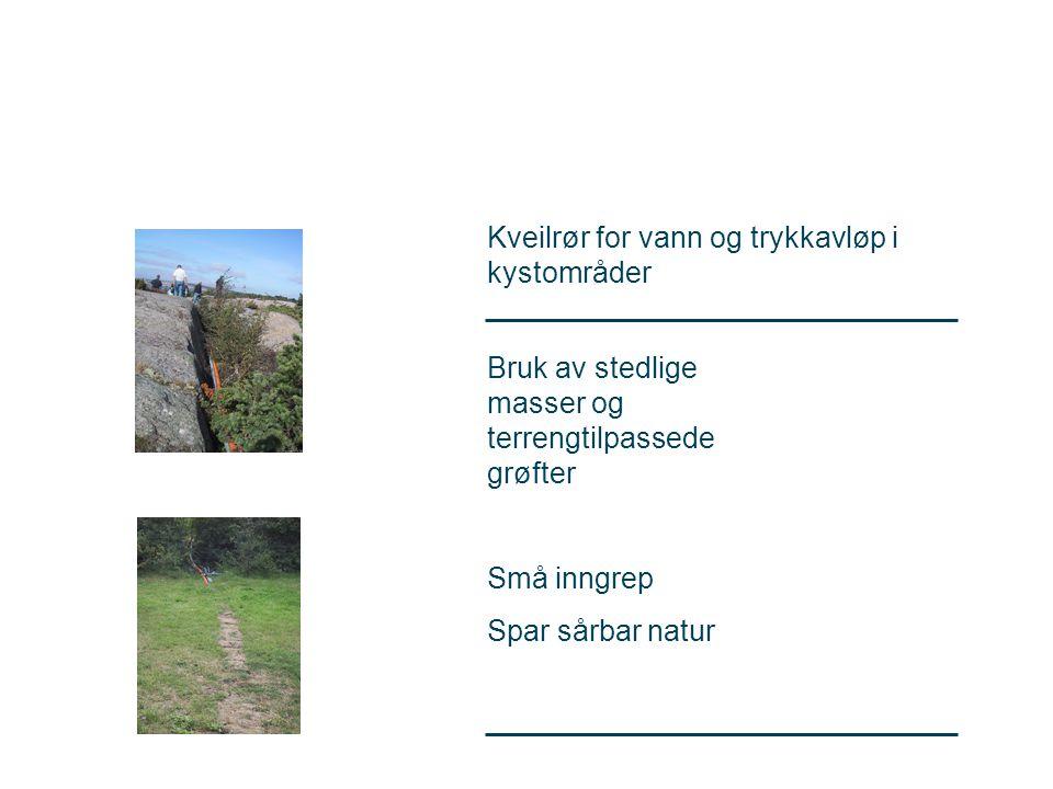 Kveilrør for vann og trykkavløp i kystområder