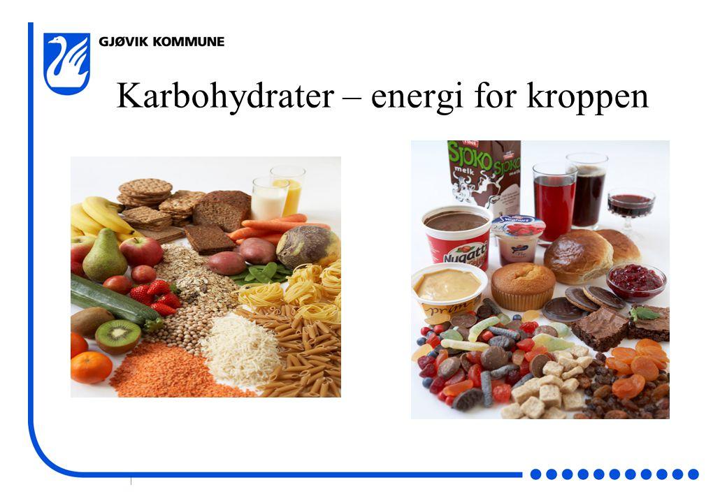 Karbohydrater – energi for kroppen