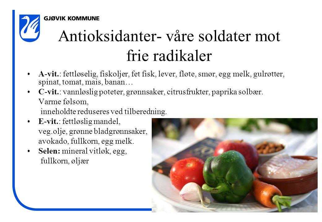Antioksidanter- våre soldater mot frie radikaler