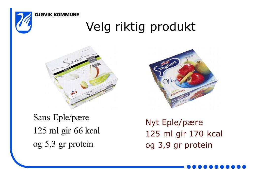 Velg riktig produkt Sans Eple/pære 125 ml gir 66 kcal