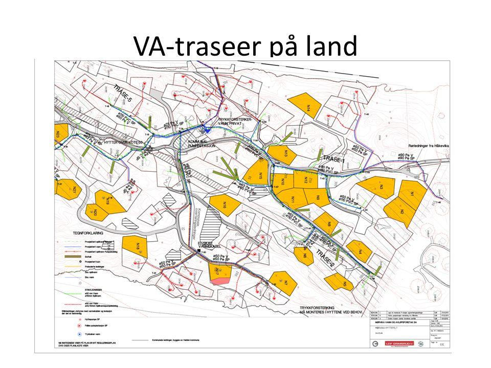 VA-traseer på land