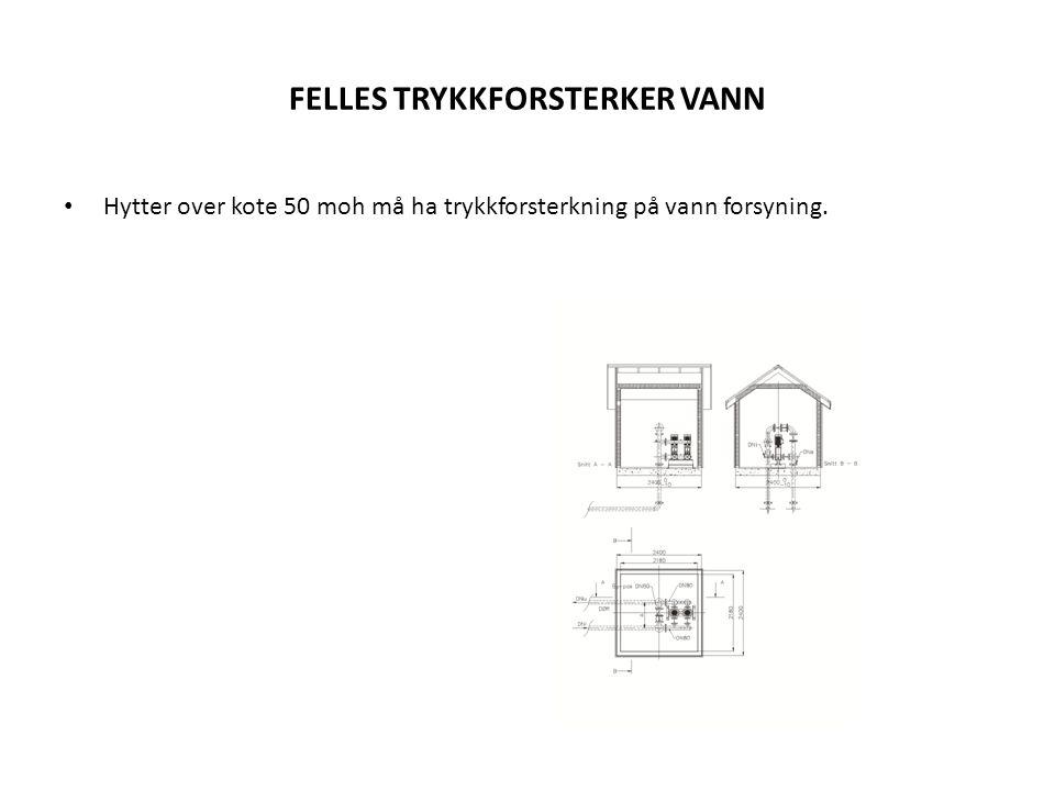 FELLES TRYKKFORSTERKER VANN