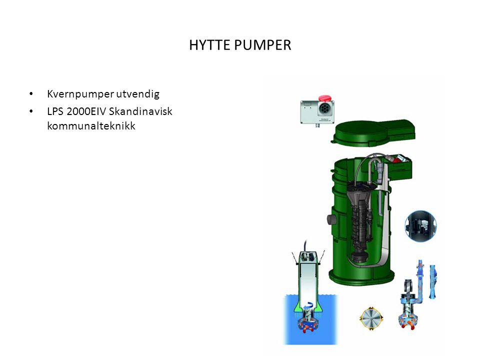 HYTTE PUMPER Kvernpumper utvendig