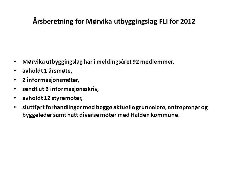 Årsberetning for Mørvika utbyggingslag FLI for 2012