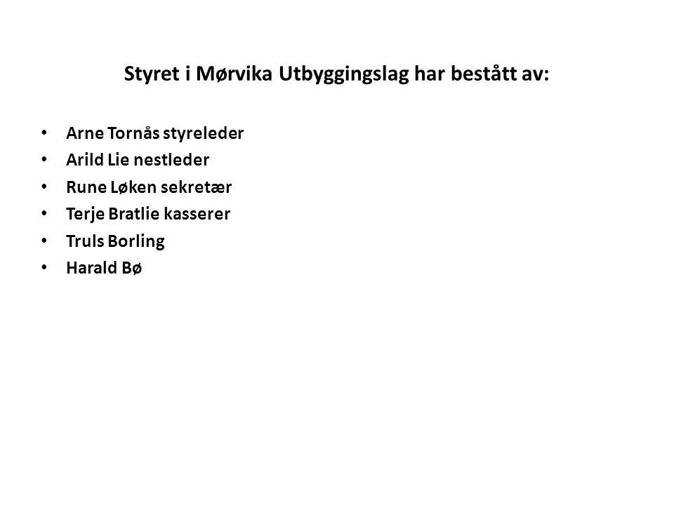 Styret i Mørvika Utbyggingslag har bestått av: