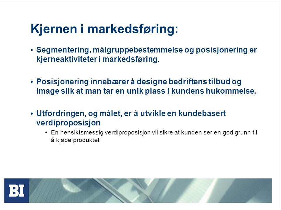 Kjernen i markedsføring:
