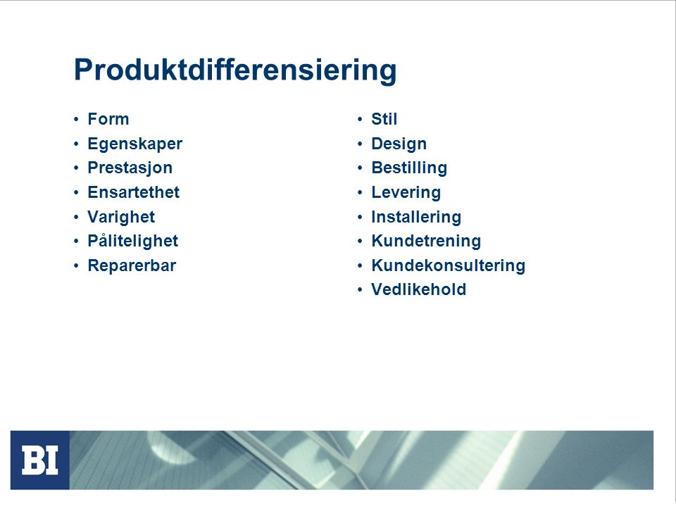 Produktdifferensiering