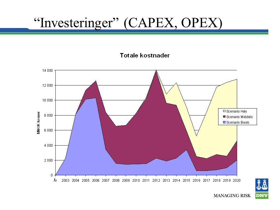 Investeringer (CAPEX, OPEX)
