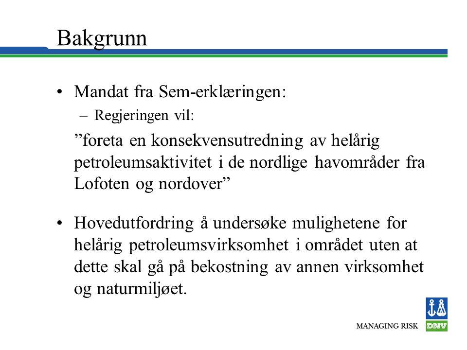 Bakgrunn Mandat fra Sem-erklæringen: