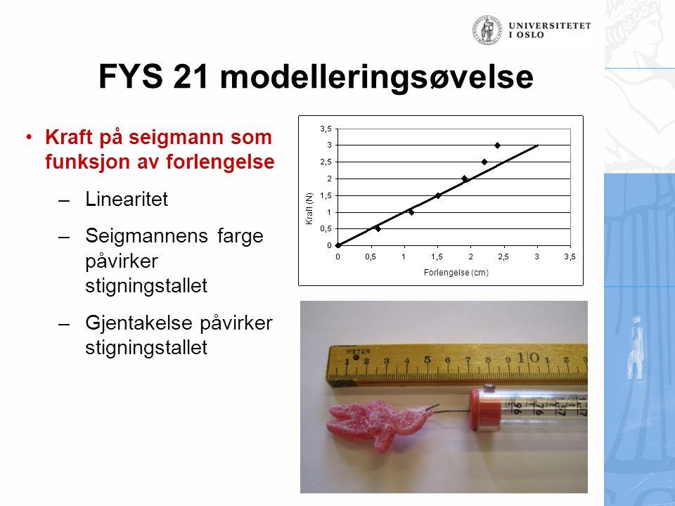 FYS 21 modelleringsøvelse
