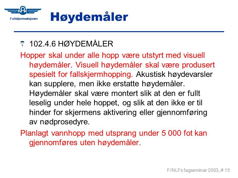 Høydemåler 102.4.6 HØYDEMÅLER