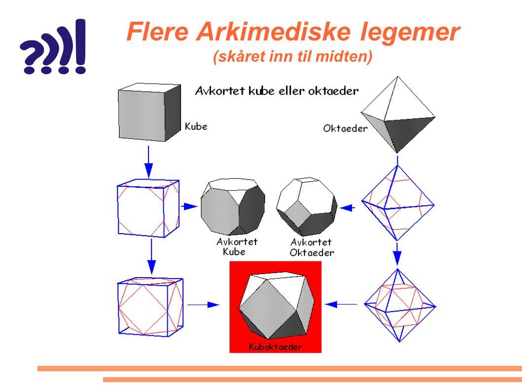 Flere Arkimediske legemer (skåret inn til midten)