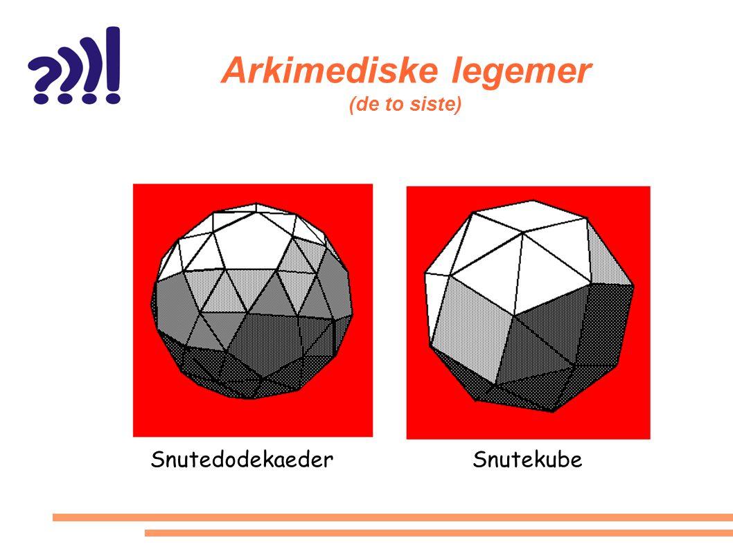 Arkimediske legemer (de to siste)