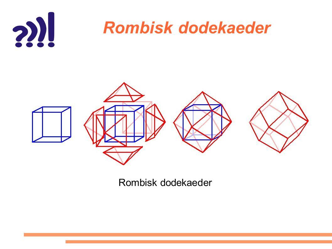 Rombisk dodekaeder Rombisk dodekaeder