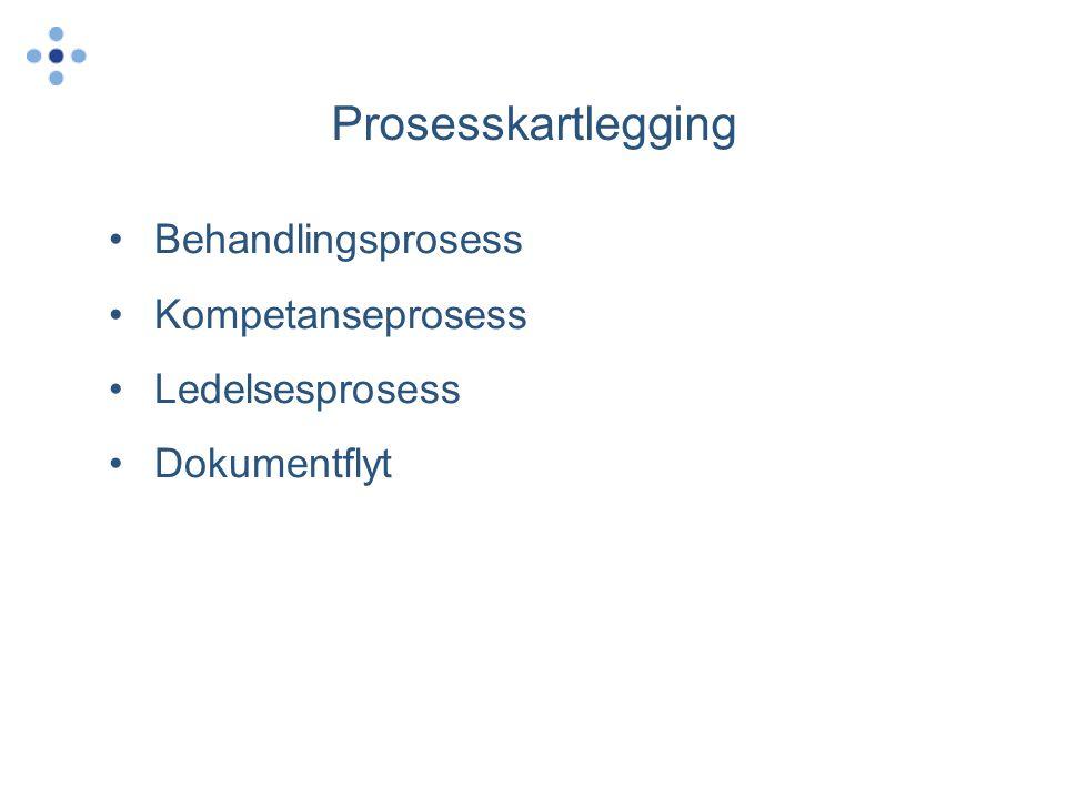 Prosesskartlegging Behandlingsprosess Kompetanseprosess