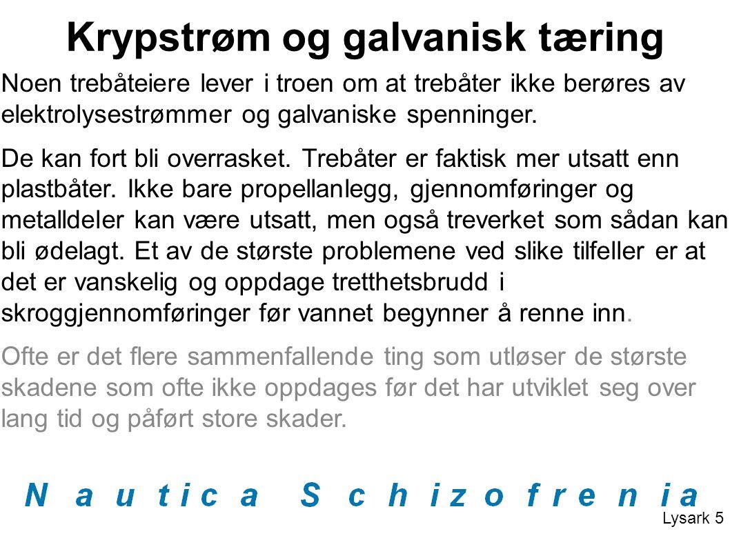 Krypstrøm og galvanisk tæring