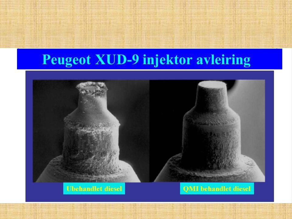Peugeot XUD-9 injektor avleiring