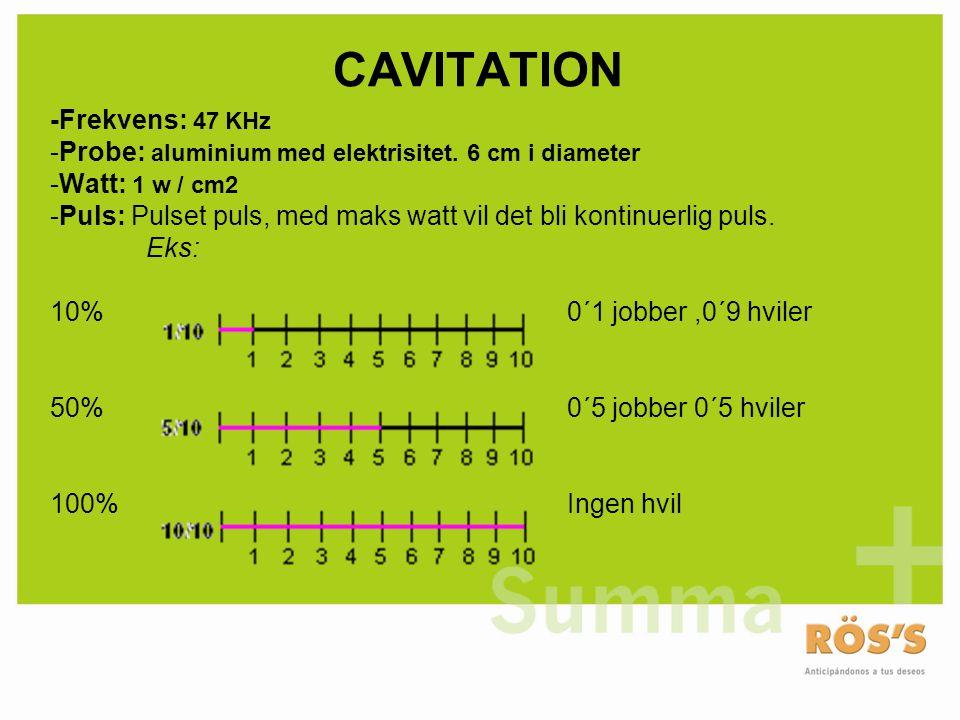CAVITATION -Frekvens: 47 KHz