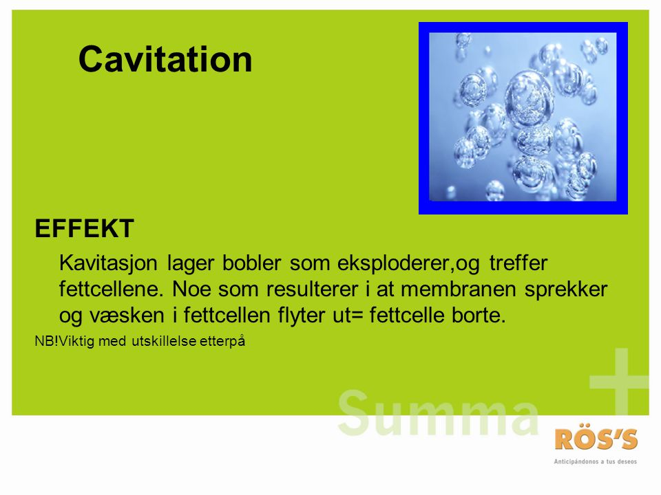 Cavitation EFFEKT.