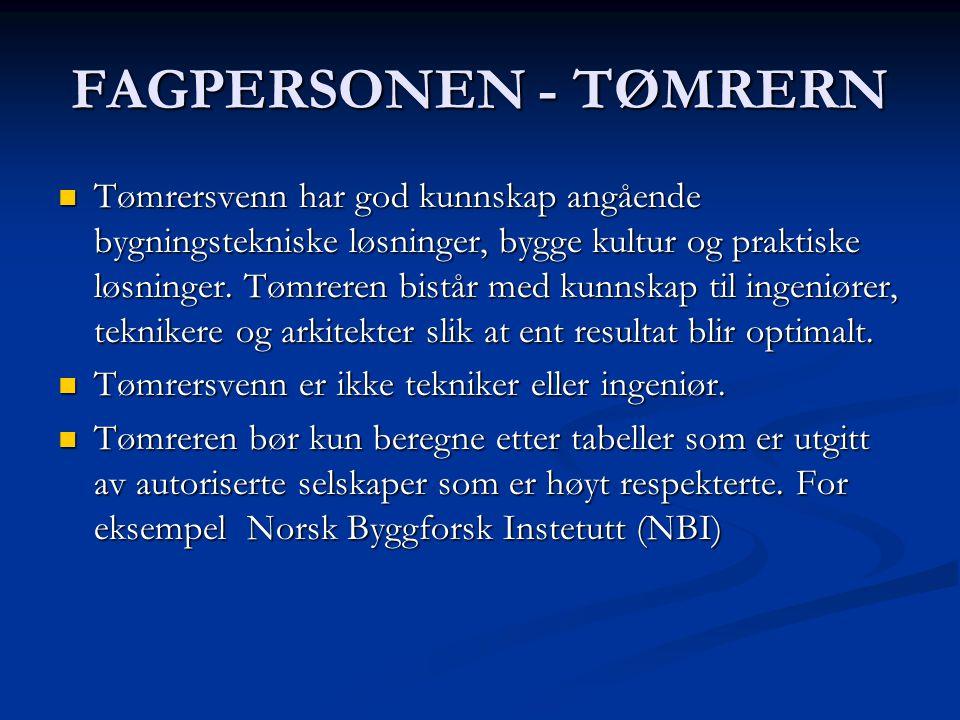 FAGPERSONEN - TØMRERN