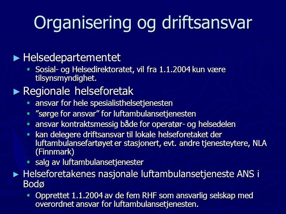 Organisering og driftsansvar