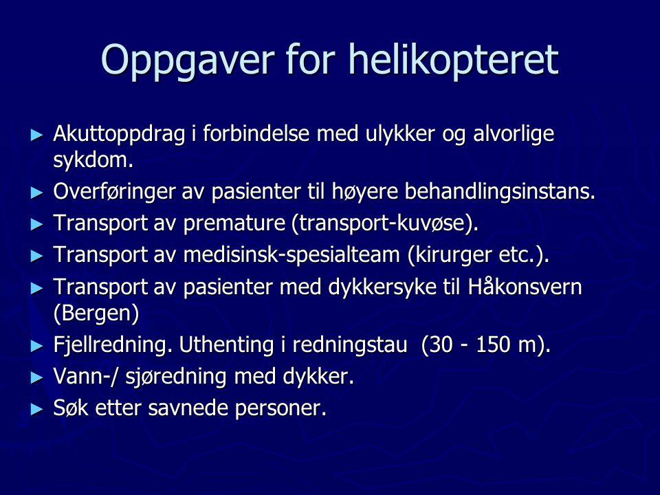 Oppgaver for helikopteret