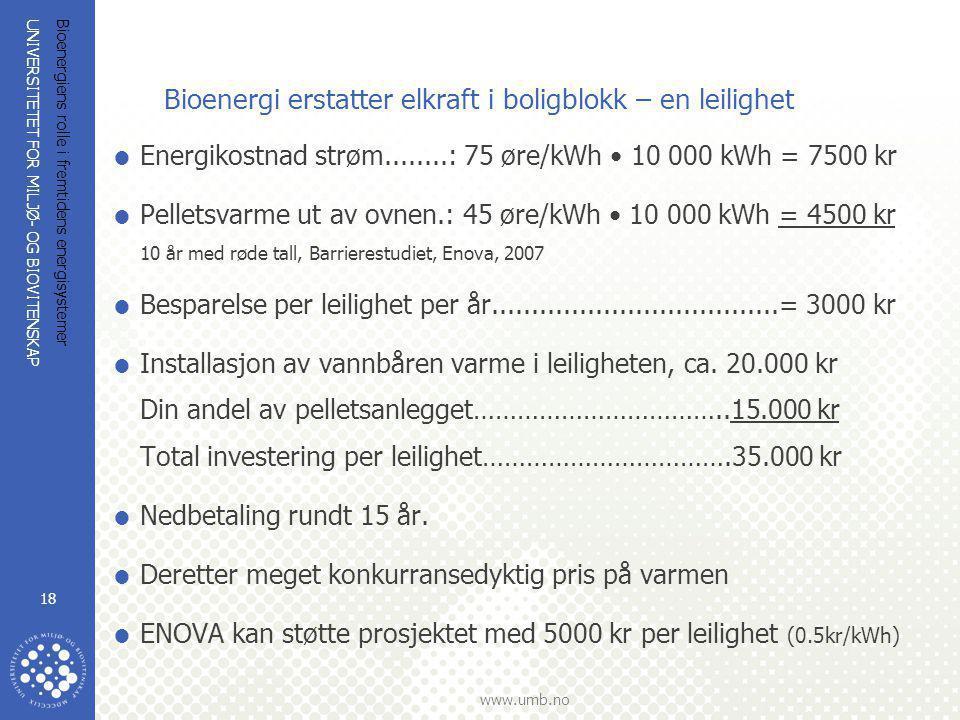 Bioenergi erstatter elkraft i boligblokk – en leilighet