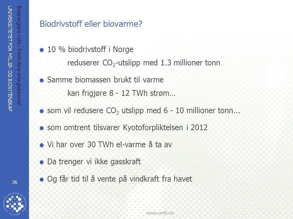 Biodrivstoff eller biovarme