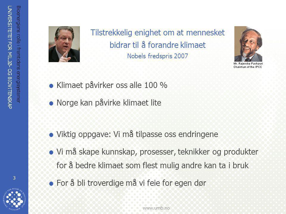 Klimaet påvirker oss alle 100 % Norge kan påvirke klimaet lite