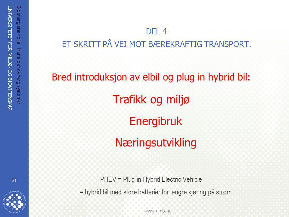 DEL 4 ET SKRITT PÅ VEI MOT BÆREKRAFTIG TRANSPORT.