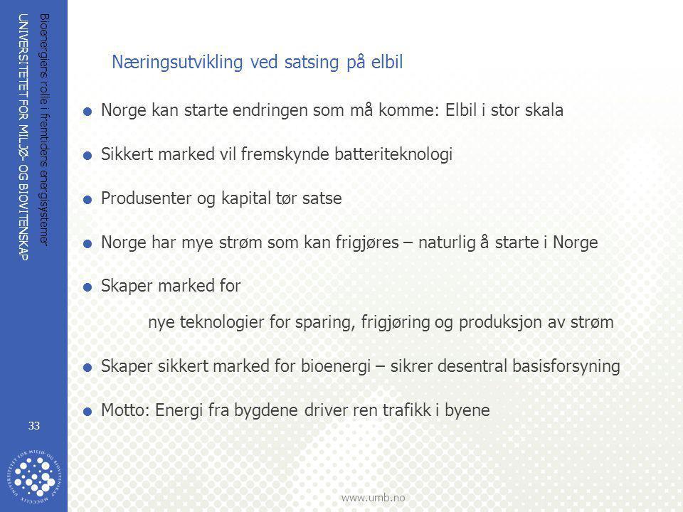 Næringsutvikling ved satsing på elbil