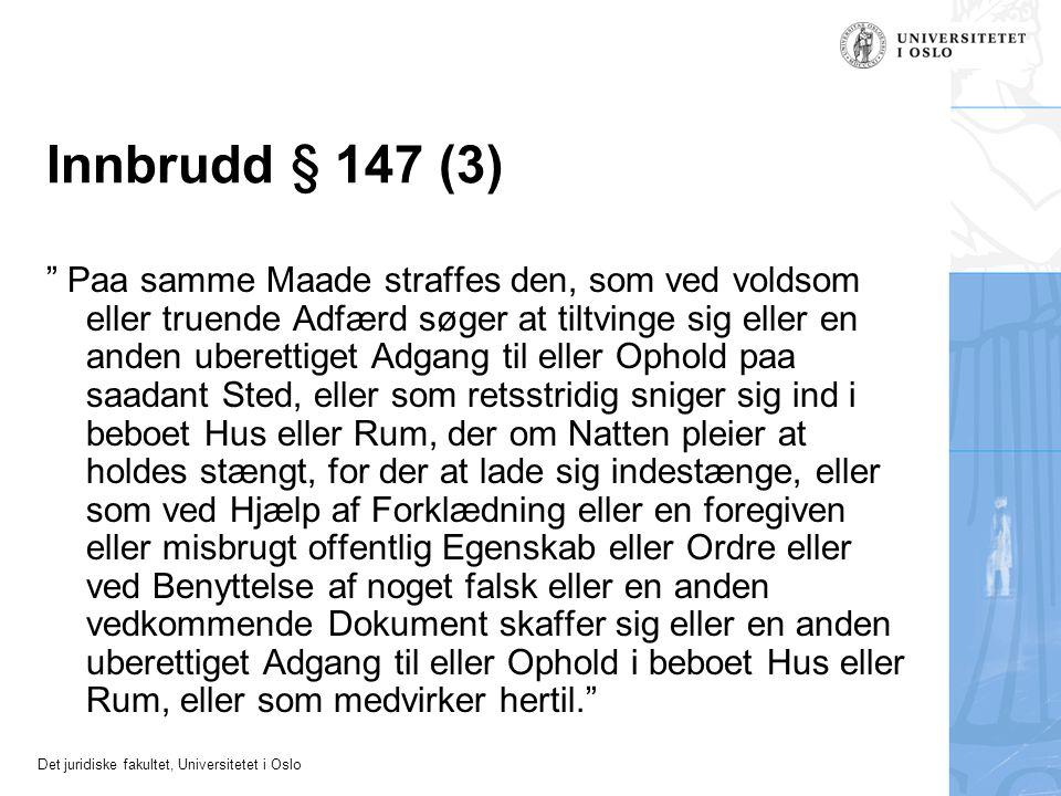 Innbrudd § 147 (3)