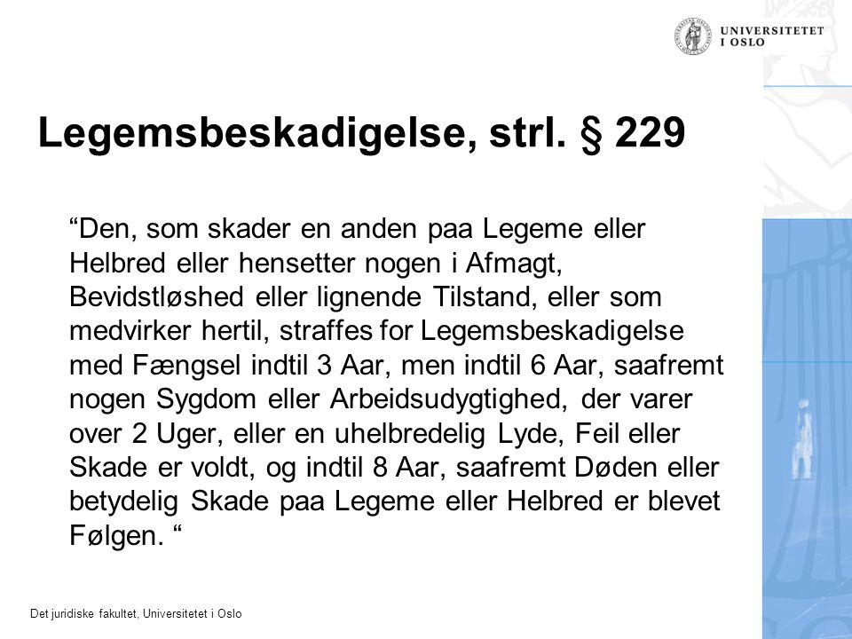 Legemsbeskadigelse, strl. § 229