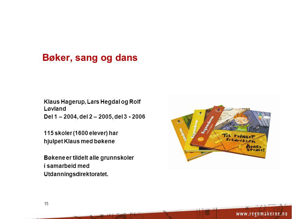 Bøker, sang og dans Klaus Hagerup, Lars Hegdal og Rolf Løvland