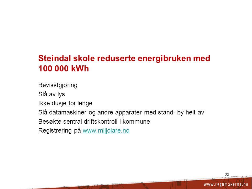 Steindal skole reduserte energibruken med 100 000 kWh