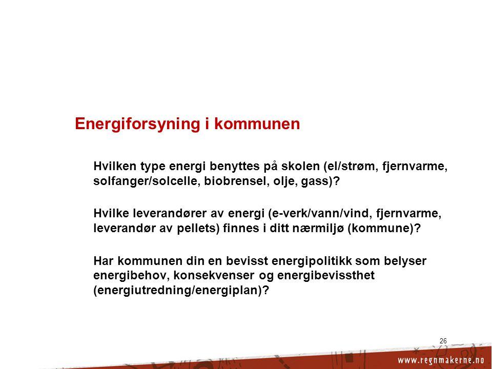 Energiforsyning i kommunen