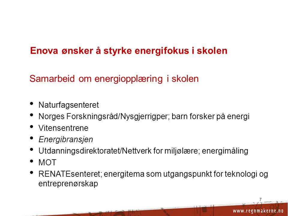 Enova ønsker å styrke energifokus i skolen
