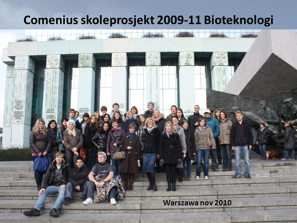 Comenius skoleprosjekt 2009-11 Bioteknologi land