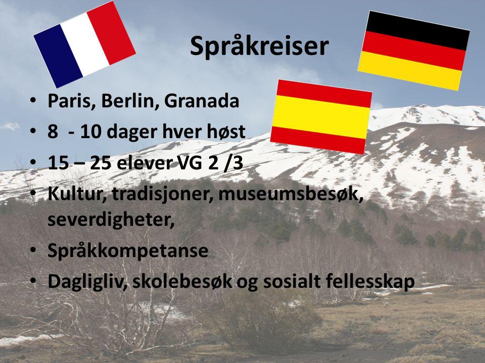 Språkreiser Paris, Berlin, Granada 8 - 10 dager hver høst