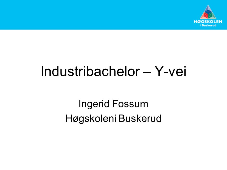 Industribachelor – Y-vei