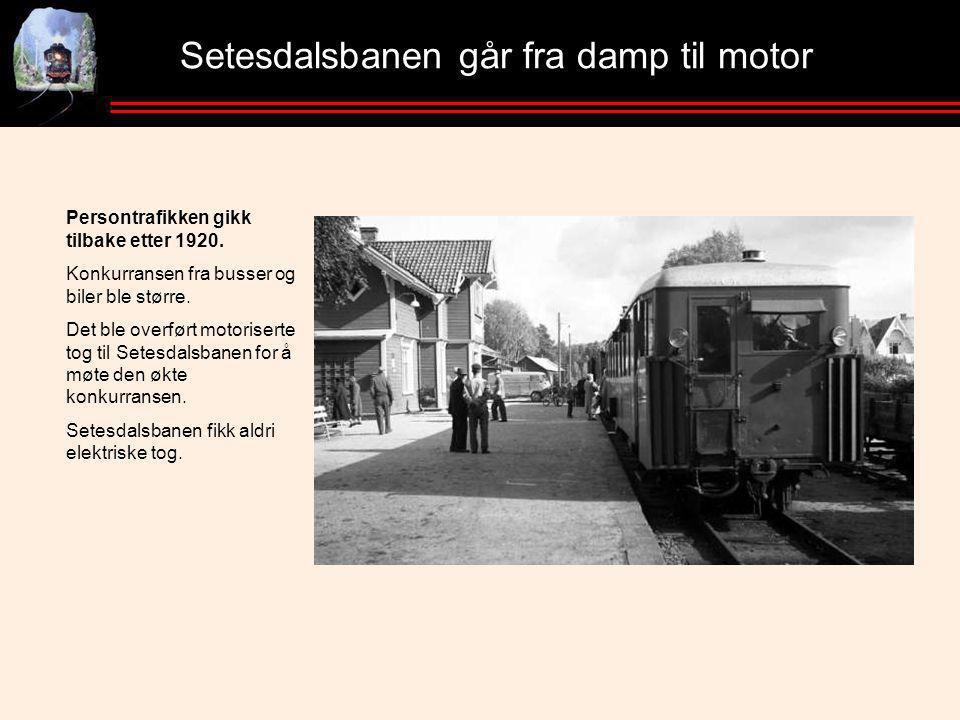 Setesdalsbanen går fra damp til motor