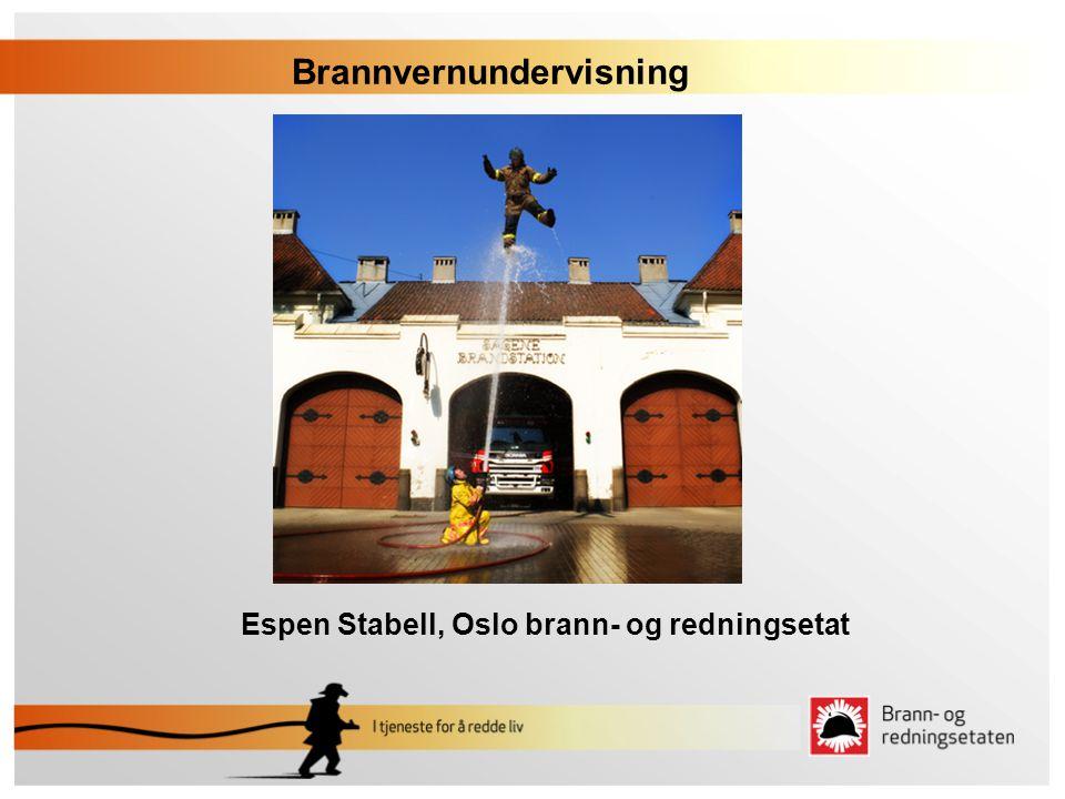 Espen Stabell, Oslo brann- og redningsetat