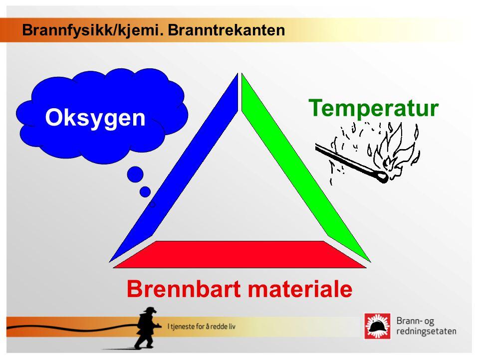 Temperatur Oksygen Brennbart materiale