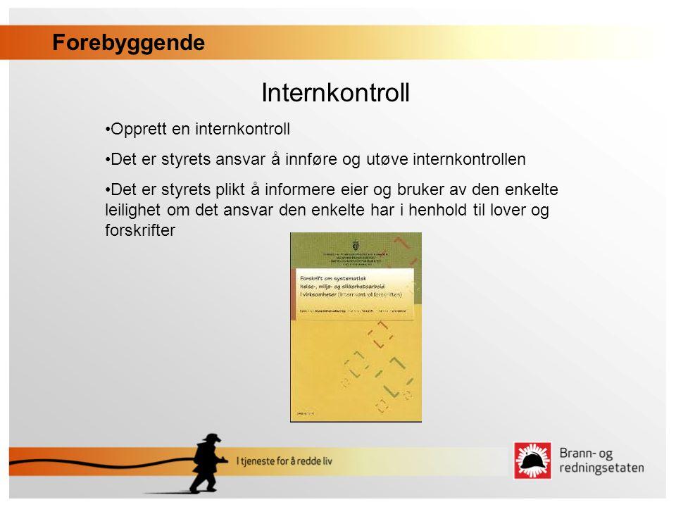 Internkontroll Forebyggende Opprett en internkontroll
